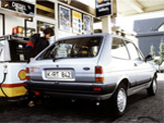 Mk2 Fiesta 1.6D filling up at Shell Fuel Station