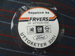 Fryers of Uttoxeter Dealer Sticker