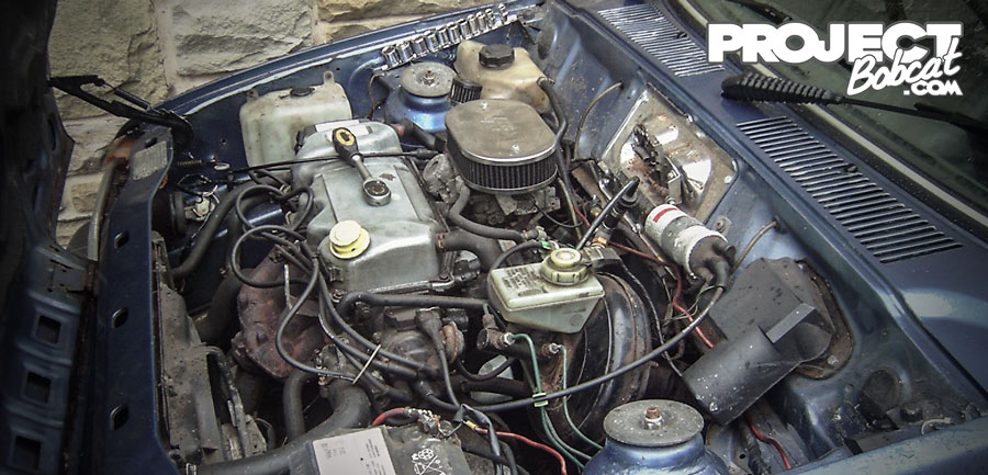 ford fiesta 1986 cvh engine bay