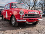 Motorsport Ford Cortina in red AFK673A