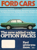 Ford Cars Option Packs Supplement 1981