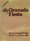 1982 Granada and Fiesta Service Launch Guide