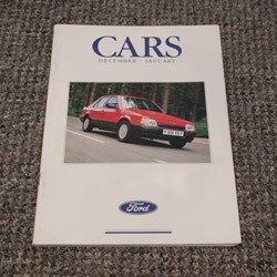 Ford Cars Brochure December 1988 to January 1989