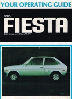 Mk1 Fiesta operating guide USA