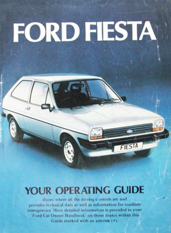 Mk1 Fiesta Operating Guide