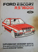 Mk3 Escort RS1600i Workshop Manual