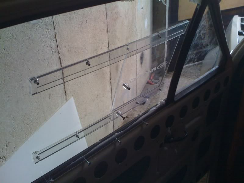 perspex window slider in ford fiesta mk1