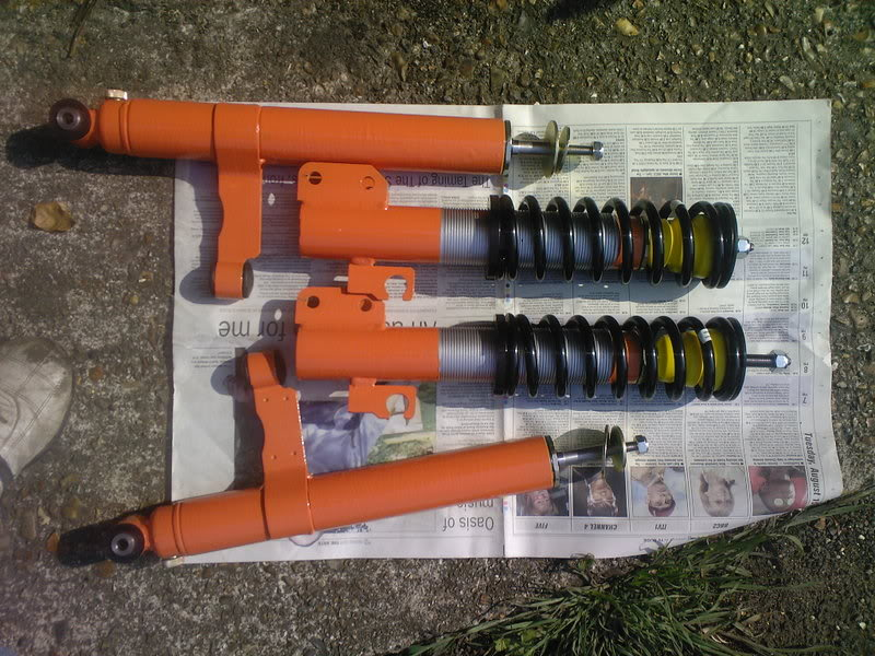 Mk1 Fiesta Gaz shocks painted orange