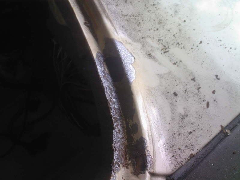 Ford Fiesta Mk1 scuttle panel rot