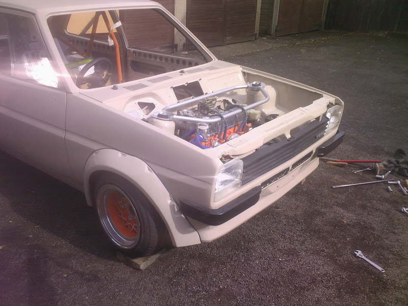 Crossflow engine in Mk1 Fiesta bay