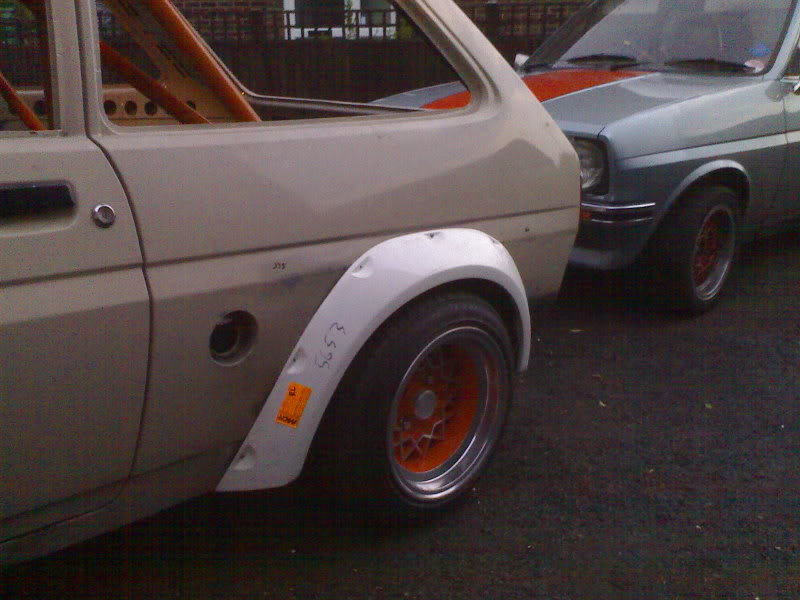 Ford Fiesta fibreglass arches