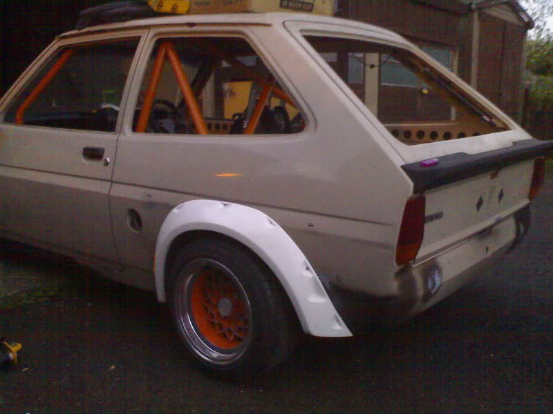 Rally style arches for a Mk1 Ford Fiesta