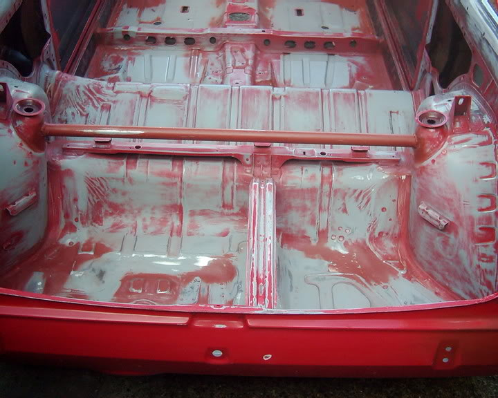 Fiesta mk2 boot floor with tar pad removed
