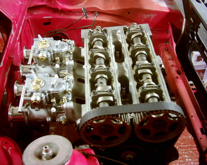 zetec engine with rocker cover removed