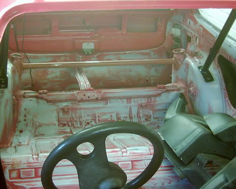 Stripped out interior of Xr2 track car
