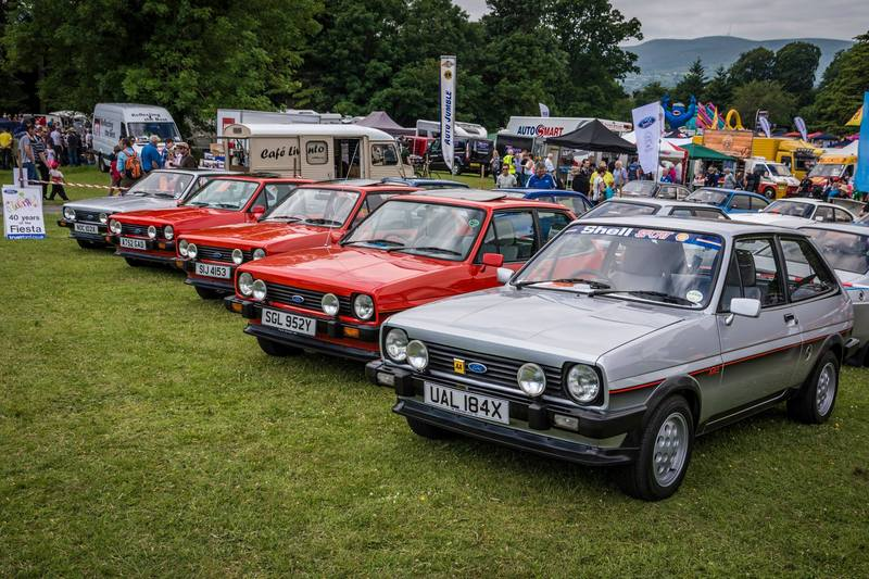 row of mk1 xr2's at kilbroney classic car show