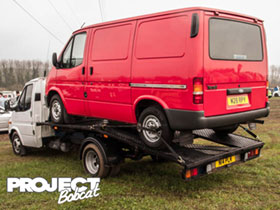Mk3 Ford Transit SWB on back of recovery