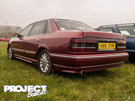 Burgundy Ford Scorpio at Fordmeet 2016