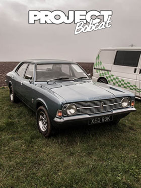 Cortina at Squires Cafe, Ford Meet