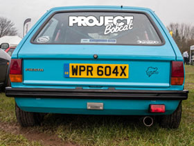 Wide arched Mk1 Ford Fiesta WPR604X