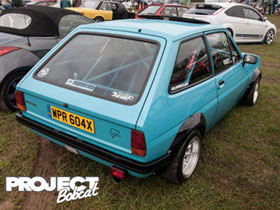 Roll caged Harris Performance Engines Ford Fiesta Mk1