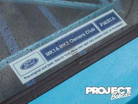 Ford Fiesta Mk1 and Mk2 Owners Club Sticker