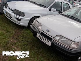 Pair of Ford Sierra's side by side