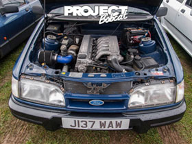Ford Sierra with BMW straight 6 engine J317WAW