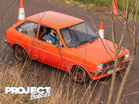 Orange Mk1 Fiesta with supersport alloy wheels