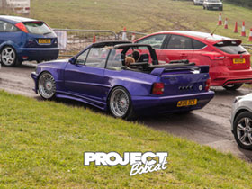 Reiger F40 kit fitted to a purple Mk4 Escort Convertible B316DCS