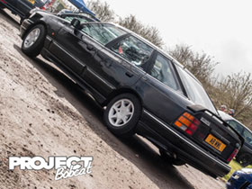 Black Ford Granada Scorpio with RS optional alloy wheels A8MWL