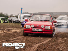 Ford Escort RS Turbo Mk4 spinning its wheels