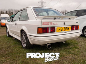 White Ford Escort RS Turbo F81BRH