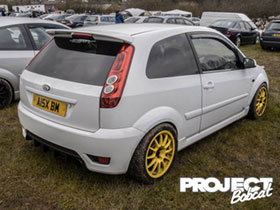 Yellow wheeled Mk6 Fiesta in white A15XBM
