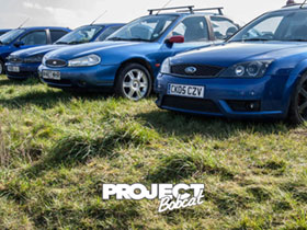 Row of Ford Mondeo Mk2 and Mk3s W487MHR