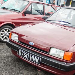 Burgundy Mk2 Fiesta at Classic Ford Show 2015