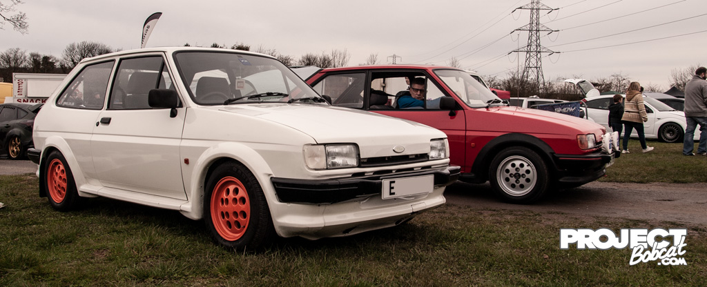 A pair of Ford Fiesta Mark 2s