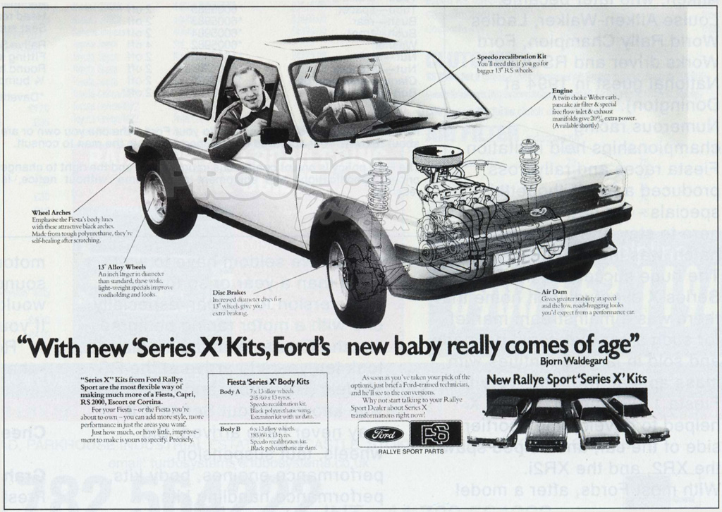 Series X Magazine advert ford fiesta