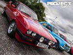 Row of Ford Escorts at Tennants Classic Ford meet