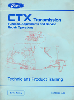 Ford CTX Gearbox training manual 1988