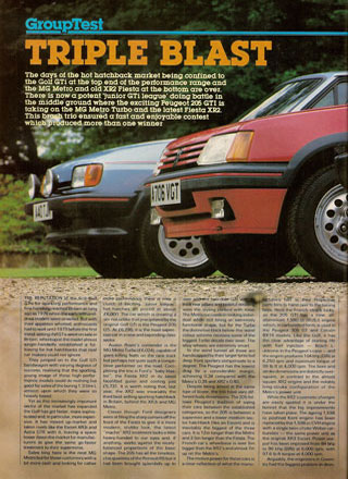 Motor 7th July 1984 XR2