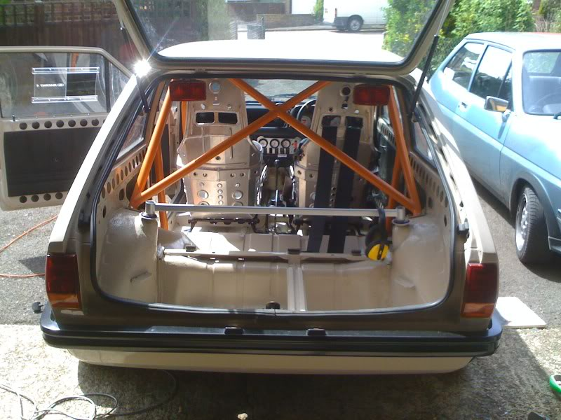roll cage fitted to a fiesta popular plus