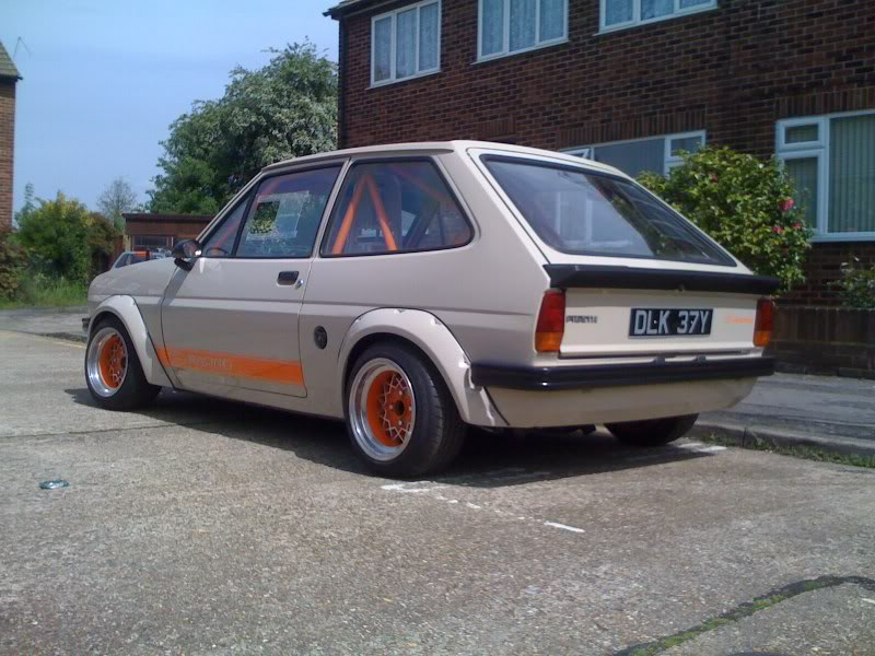 rear quarter view of a modified mk1 ford fiesta