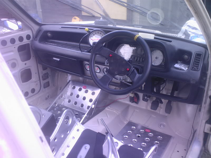 Mk1 Fiesta dashboard with Ford racing tacho