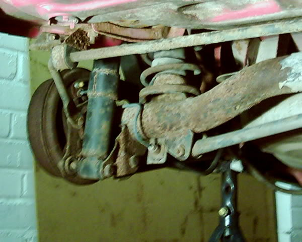 Fiesta XR2 rear suspension before powdercoating