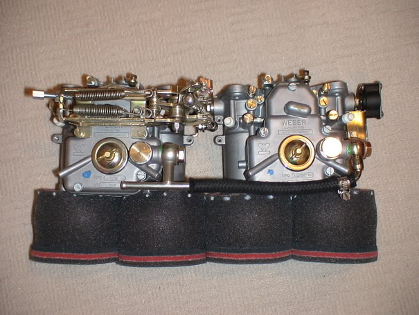 Weber DCOE carbs with trumpet socks