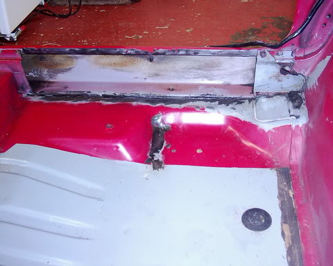 interior rear sill welded plate