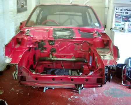 Mk2 Fiesta with front panels removed