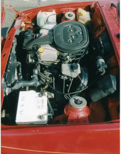 standard fiesta xr2 engine bay