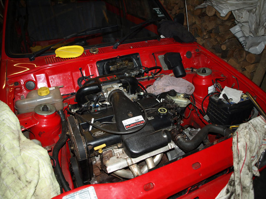 zetec engine in fiesta engine bay